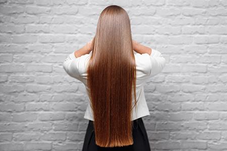 smoothing hair