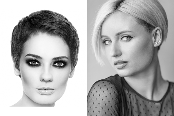 short hair cuts and styling