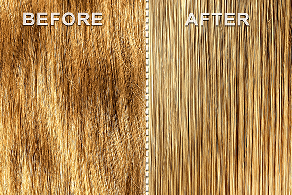 before and after hair correction